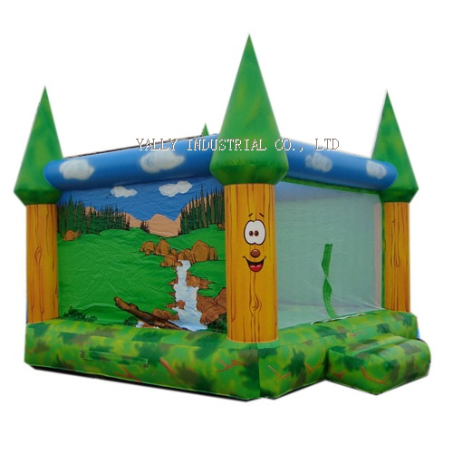 forest / jungle inflatable castle