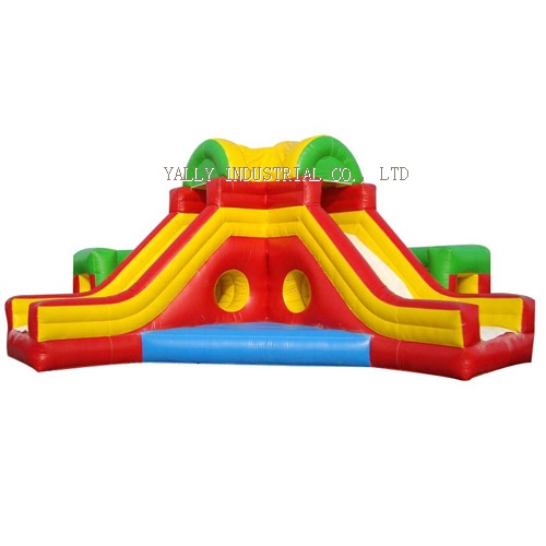 rainbow maze inflatable slide