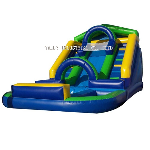 inflatable slide with pool/ blue inflatable water slide