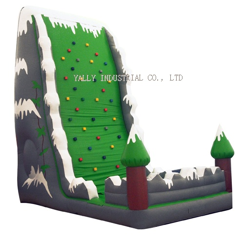 Inflatable Green Climbing Wall, inflatable interactive sports
