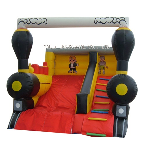 locomotive inflatable slide