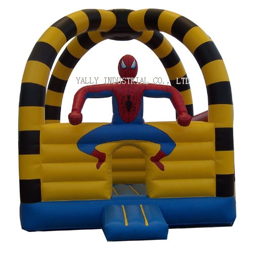 Spider man inflatable bounce house