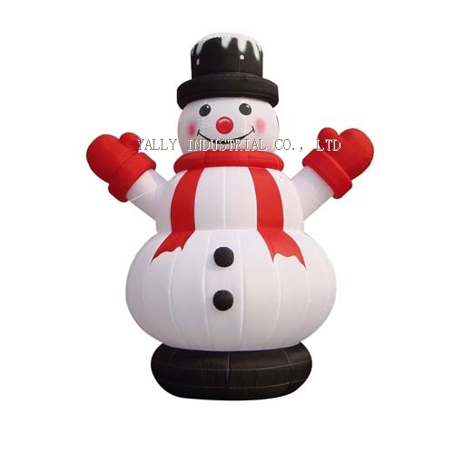 inflatable snow man cartoon