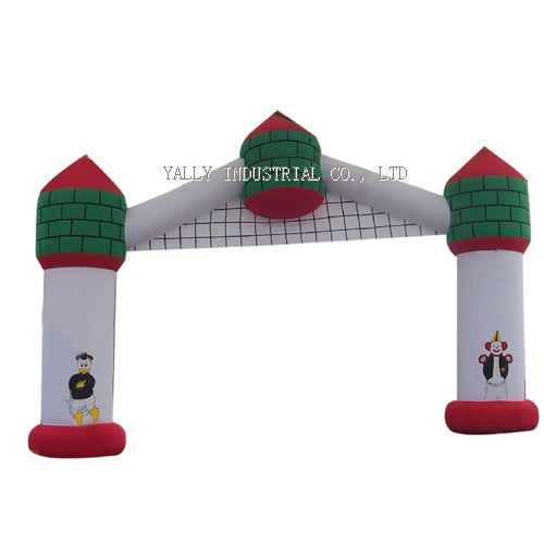 Cartoon theme painting inflatable arches castle door