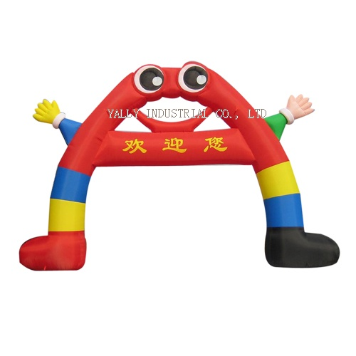 inflatable arches colorful cartoon characters lovely archdoor