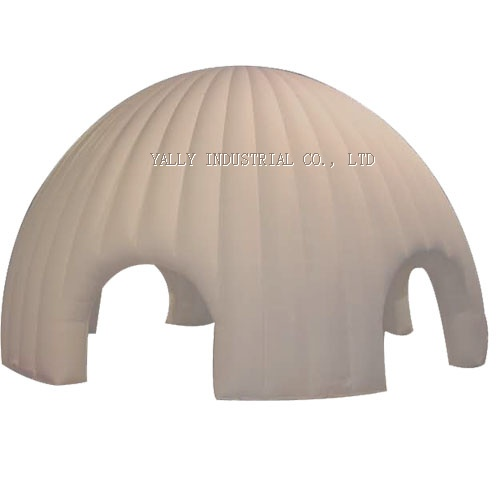 white double layer inflatable Refugee Emergency dome tent