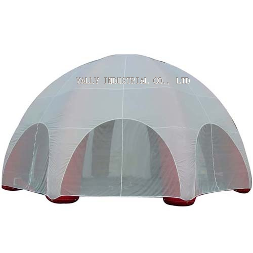 white outdoor activity inflatable dome tents for event promotion