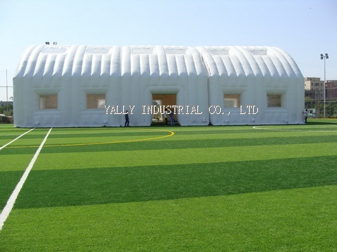White double layer inflatable Sports Hall Tent for tennis, football games