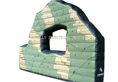 paintball bunker ruin wall with window