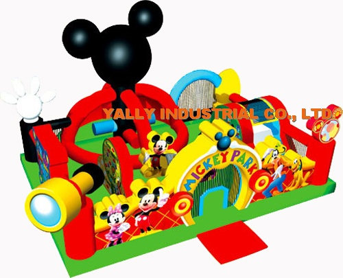 Disney mickey park trottie inflatable playground for small kids