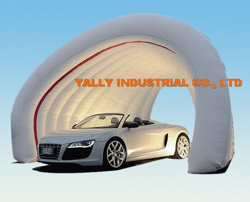 white double layer inflatable car garage tent for car show : inflatable car tent - memphite.com