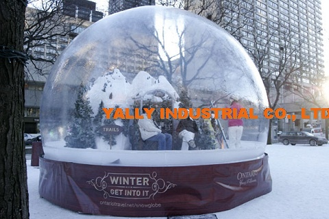 life size christmas snow globe for christmas decoration for party event