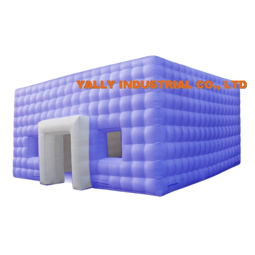 Cube shape inflatable air structure building for temportary exhibition