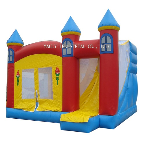 red inflatable castles bouncer