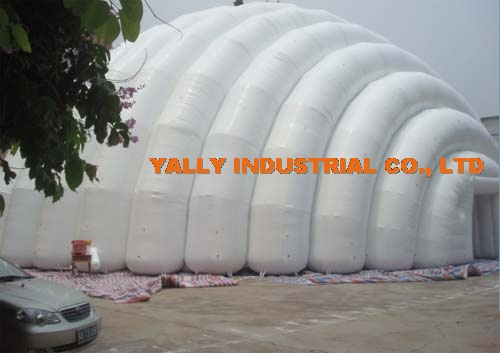 large white inflatable shelter for sports hall tent event rental