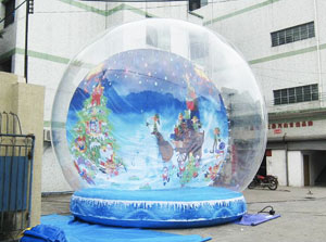 life size christmas snow globe