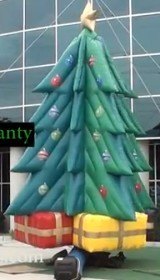 big inflatable Christmas tree