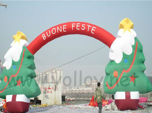 big Christmas arch outdoor