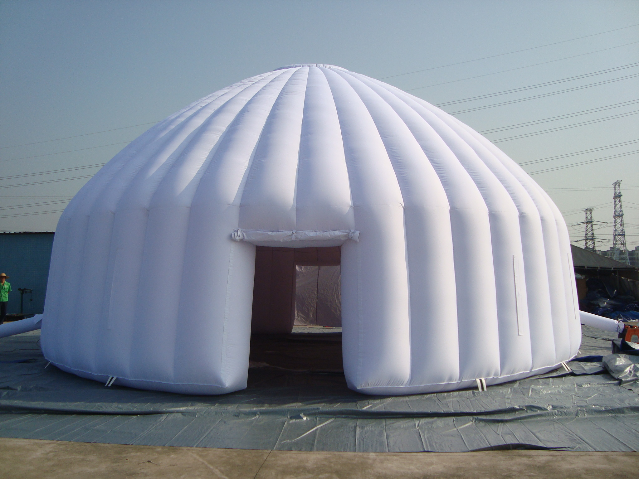 Here are some related igloos for your reference please check. & Yolloy Black tarpaulin tent double layer mobile inflatable tent ...