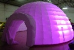 Inflatable lighting igloo dome tent