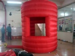 red temporary inflatable kiosk for outdoor promotion event