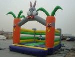 Inflatable bouncer bugs bunny like carrot moonwalks