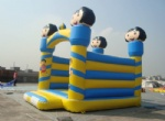 Inflatable bouncer Dora the explorer moonwalks in blue