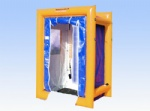 portable emergency decontamination for fire department