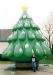 Outdoor inflatable Christmas tree during Xmas Holiday