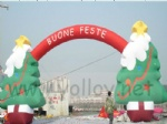 blow up inflatables arch with Christmas tree outdoor