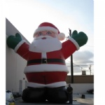 Outdoor giant santa inflatable Christmas holiday decoration
