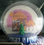 inflatable snow globe with Christmas tree decoration