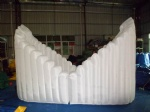 Inflatable Ingot shape Exhibition Clamshell building dome