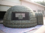 Camouflage inflatable tent igloo military dome