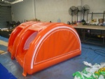 Outdoor sleep camping lodge tent with bed
