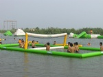 interactive water floating volleyball court for amusement