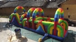 Rainbow inflatable interactive obstacle for fun