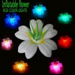 inflatable lighting flower lily RGB color lights for party stage events decor