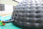 Large inflatable dome tent back hemisphere tent