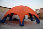 Spider tent inflatable structure with 6 legs shleter
