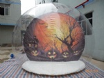 Halloween theme park clear dome tent for Halloween activity