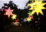 Inflatable hanging star lamps lighting for huge party stage events decor