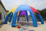 Large spider tent inflatable with 8 legs