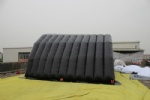 Movable stage tent inflatable double layer cover