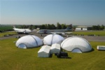 Large lawn dome tent air wall building