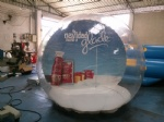 Cool DIY christmas Festival snowglobe in human size