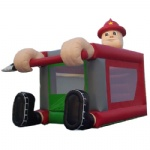 fire man inflatable Moonwalk / bounce jumper