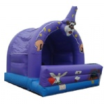 purple circus inflatable bouncy house