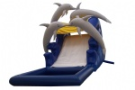 four dophine inflatable water slide