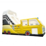 yellow truck inflatable slide